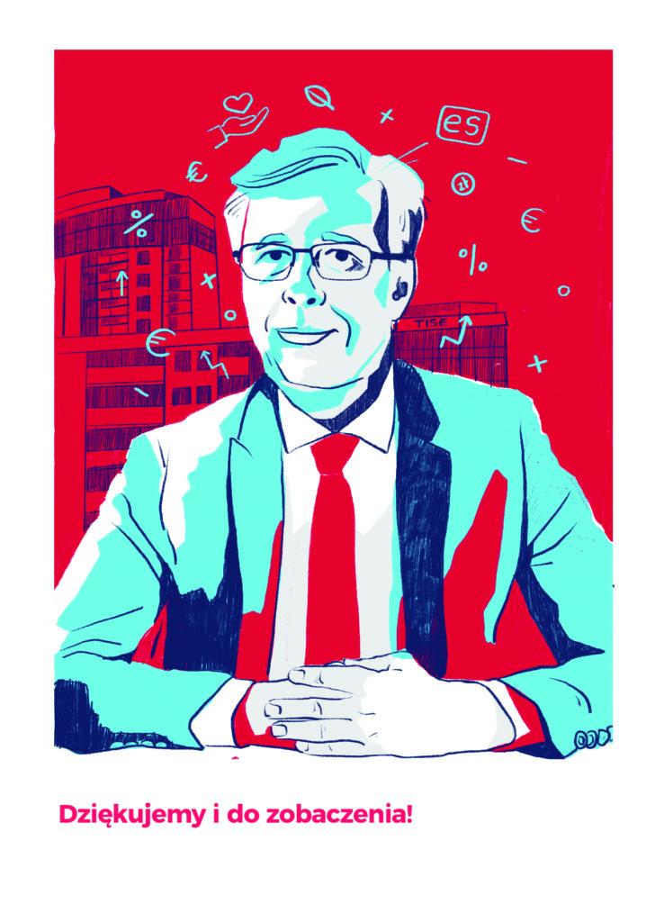 Portret prezesa Towarzystwa Inicjatyw Społeczno - Ekonomicznych