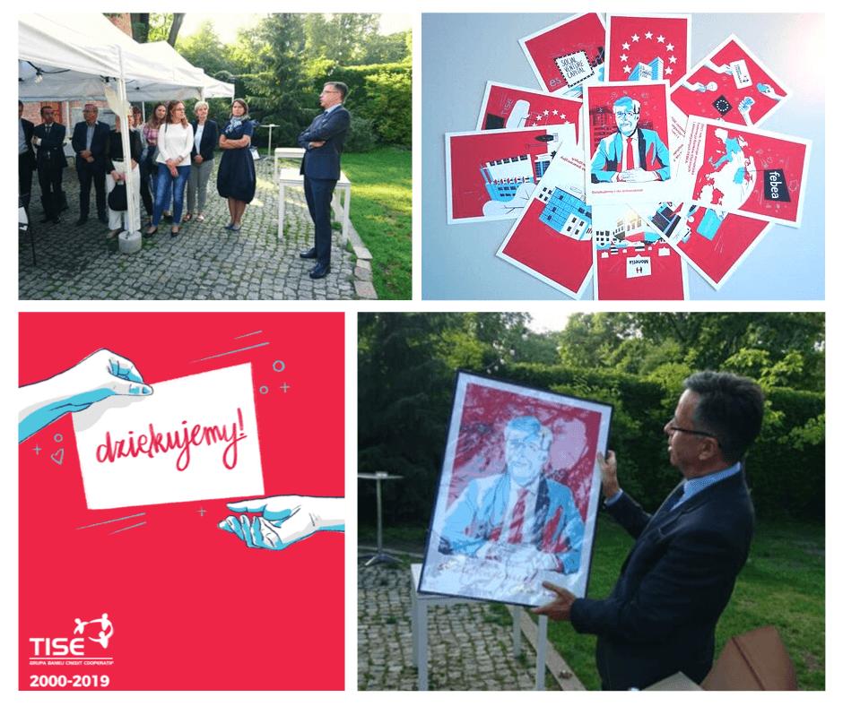 prezentem na jubileusz firmy mogą być personalizowane torbym kolekcja pocztówek, czy osobisty portret, oprawiony w ramę.