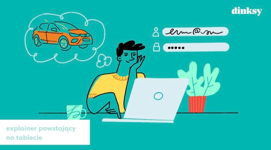 explainer video, ilustracja na tablecie