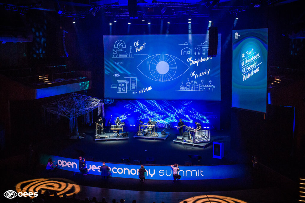 Open Eyes Economy to jedna z najbardziej charakterystycznych imprez konferencyjnych Krakowa. W tle video explainer Dinksy